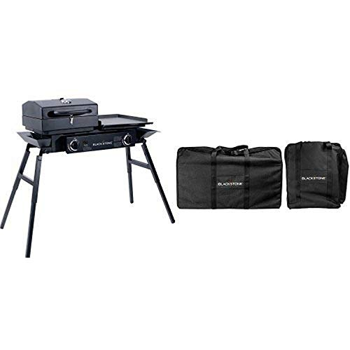 Blackstone Tailgater Portable Gas Grill and Griddle Combo & Carry Bag Bundle