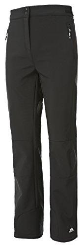 Trespass Squidge II, Black, XL, Wasserdichte Softshellhose für Damen, X-Large, Schwarz
