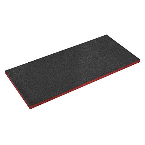 Sealey SF30R Easy Peel Shadow Foam 1200 x 550 x 30 mm, Rot/Schwarz