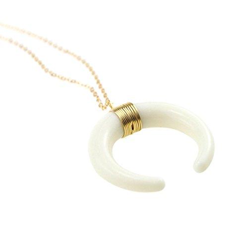 Collar con colgante de luna creciente con cadena para mujer, para regalo, de bismarckbeer