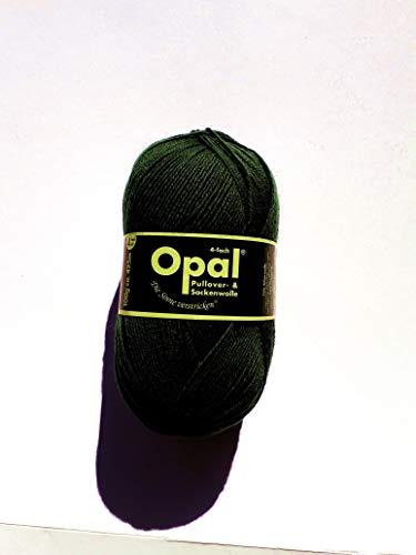 Opal uni 4-fach Sockenwolle 2619 tiefschwarz
