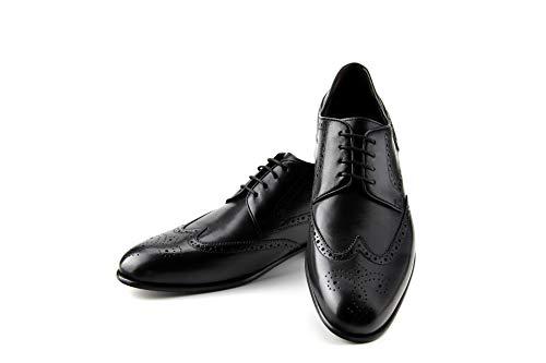 Prime Shoes Flexible Lake City Schnürschuh Schwarz Calf Black mit Budapestermuster aus feinstem Kalbsleder Sacchetto (11)