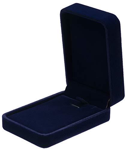 POKOFO Classic Velvet Necklace Pendant Box Jewelry Gift Boxes (Blue)