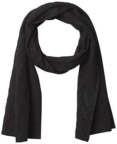 Armani Exchange A|X Damen All-Over AX Logo Scarf Schal für kaltes Wetter, schwarz, Einheitsgröße