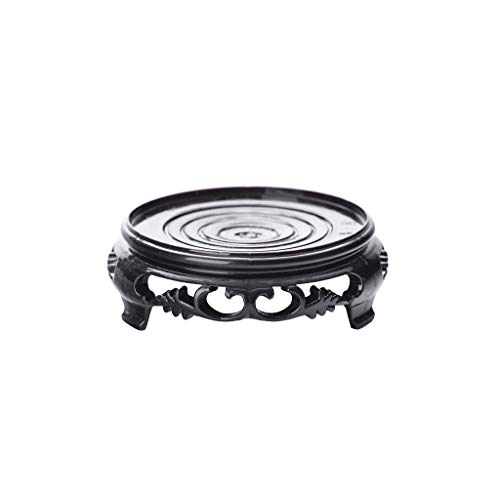 YITIANTIAN Living Room Personality Vase Exquisite Black Plastic Tray Flower Pot Tray Garden Outdoor Indoor Household Potted Flower Pot Retro Carved Flower Pot Tray Modern Decorative Vase (Size : B)