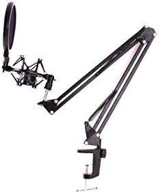 Eclv New Microphone Suspension Boom Scissor Arm Stand W shock Mount Record Studio Microphone product image