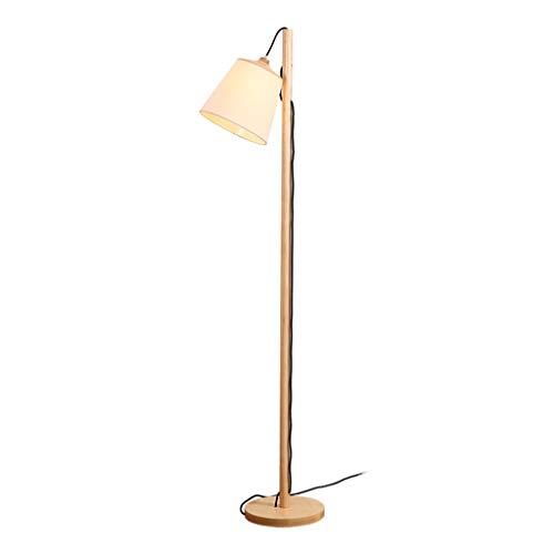 ZGP-LED Luces de piso Madera Sólida Lámpara de pie moderna Inicio Sala de estar Estudio de lectura lámpara de cabecera de la lámpara LED lámpara de mesa Piano vertical Pantalla de lámpara Altura ajust