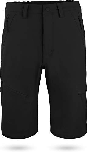 normani Softshell Shorts Kurze Bermuda Funktionshose für Herren S - XXXXL Farbe Schwarz Größe XXL
