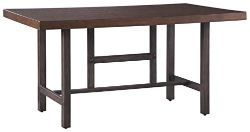 Signature Design by Ashley - Kavara Dining Room Table - Industrial Style - Medium Brown