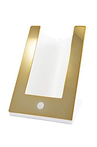 argentoè Contatto-gelette Termica con Profilo Metallo Oro raffredda Bottiglia (Oro Lucido)