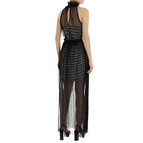 Guess Tina Dress Vestido de Fiesta, Multicolor (Black with Blk and W F98v), Medium para Mujer