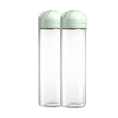 JIAYU Caja De Almacenamiento De Alimentos Recipiente De Almacenamiento De Fideos, Tanque De Almacenamiento De Granos De Vidrio Transparente De 1,5 litros, Sellado Y A Prueba De Fugas