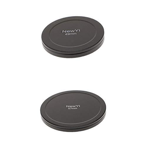 Baoblaze 2stk. 67mm 49mm Filterkappen zur Aufbewahrung, Filterschutzkappen, Metall Filter Container, Filtertasche, Filter-Schutzkappe, Deckel
