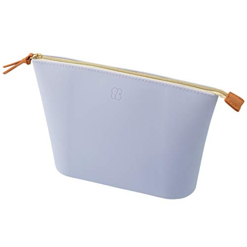 LIHITLAB Bloomin Soft Silicone Wide Top Opening Organizer Zippered Pouch, Big, Lavender