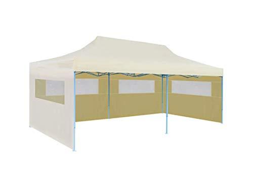 Carpa de jardín impermeable anti-UV, carpa de jardín plegable con pared lateral para jardín, patio, terraza, fiesta, picnic