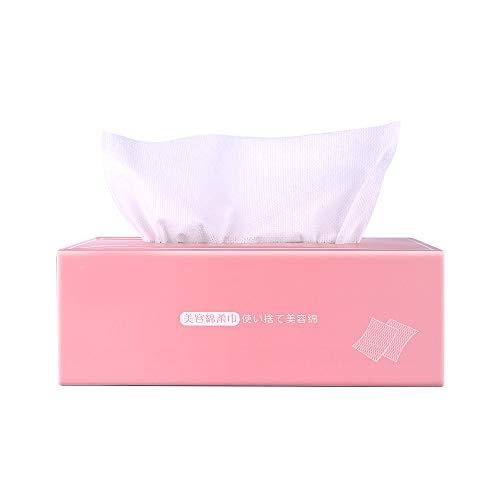 TOMYEER Toallitas secas de algodón para limpieza facial, toalla de algodón para maquillaje facial, almohadillas suaves desechables de algodón facial, 80 unidades