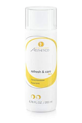AESTHETICO refresh & care - Reinigungsfinish, Gesichtswasser für alle Hautbilder, kühlt und beruhigt, stärkt den Säureschutzmantel, 200 ml