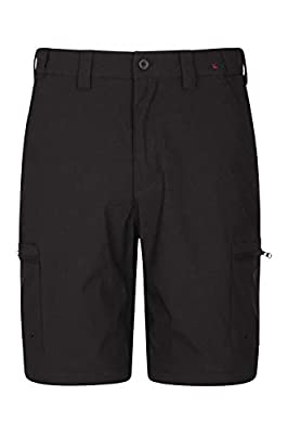 Mountain Warehouse Trek Stretch Mens Shorts - Cargo Winter Shorts Black Mens W38