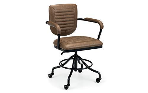 Julian Bowen Gehry Upholstered Office Chair, Brown
