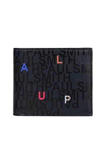 ポールスミス Paul Smith ポールスミス レターズ プリント 2つ折り財布 メンズ 二つ折り財布 フラップ ウォレット 紳士 純正化粧箱付き ショップバッグ付き 873824 PSV750