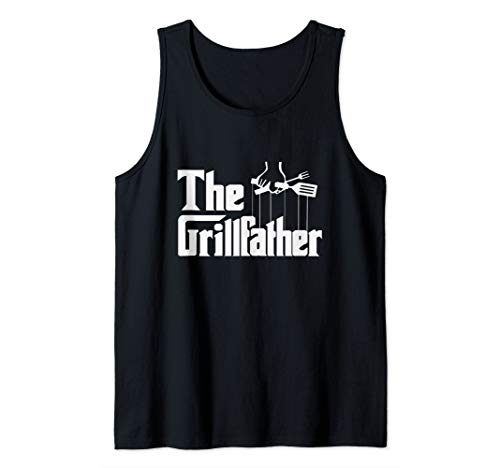 Der Grillvater Grillfather BBQ Grill & Smoker Barbecue Chef Tank Top