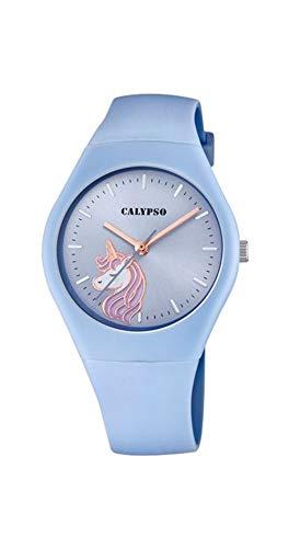 CALYPSO Reloj Modelo K5792/3 de la colección Sweet Time, Caja de 39 mm Correa de Caucho Azul para señora