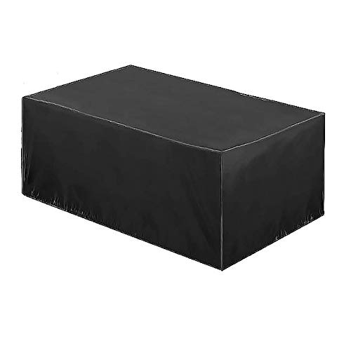 ZQIAN Funda Protectora para Muebles 120x120x74cm Impermeable Muebles de Jardín Funda Anti Viento/UV Anti-desvanecimiento Resistente al Desgarro, para Mesa Sillas Sofás Muebles de jardín, Negro
