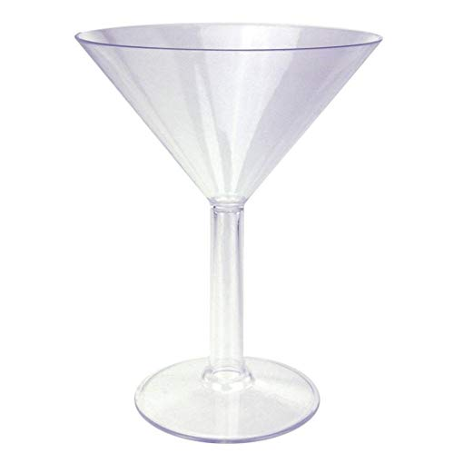 "Plastic Martini Glass 9"" Cup Candy Bar Decoration For All Party Occasions"