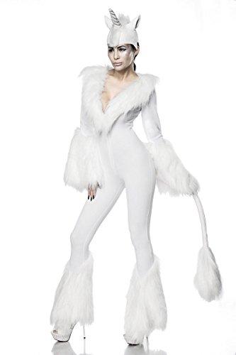 Sexy White Unicorn Kostüm Letztes Einhorn Einhornkostüm Overall Märchen Karneval Fasching Damen Legende Sage S