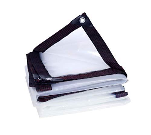 JHNEA Lonas Impermeables Exterior Transparente,Lona Transparente PE con Ojales Protección Solar Anti-UV Prueba De Viento Toldo Usar como Patio Macetas Automóviles,3 * 4M(9 X 12ft)