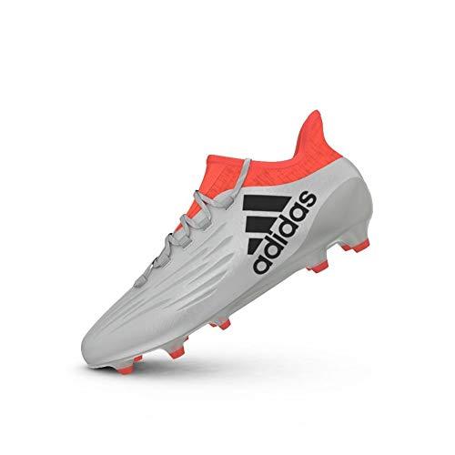 adidas X 16.1 Fg, Chaussures de foot homme, Argent - Plateado (Plamet / Negbas / Rojsol), 43 1/3 EU