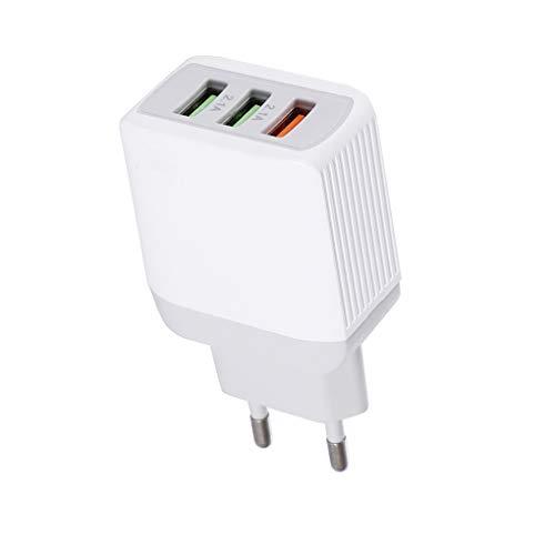 Ailan 3 USB de Carga rápida 3.0 5V 3A 9V 1.8A 12V 1.5A del Enchufe de teléfono móvil portátil de Viaje Cargador con Adaptador de Enchufe del zócalo de la UE
