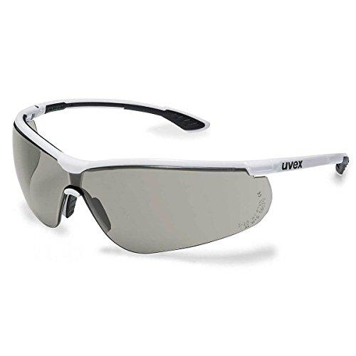 uvex Sportstyle Weiß-Schwarz Bügelschutzbrille ★ Kratzfest   UV-400-Schutz   Sonnenschutz   Beschlagfrei   Extrem Leicht   EN 166   EN 170   Sportlich ✔ Ergonomische Passform ✔ Top Qualität