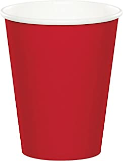 Creative Converting Celebrations 96-Count 9 oz. Hot/Cold Cups, Classic Red - 563548