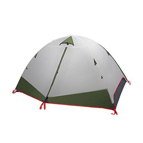 WZLJW Dome Tent,2 People Outdoor Double Layer Compact Festival Tents Rain-proof Camping Backpack Tents UV Protection Sun Shelter Green 230cm