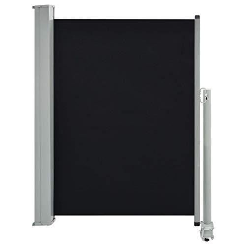 vidaXL Seitenmarkise Ausziehbar 100x300 cm Schwarz Sichtschutz Sonnenschutz