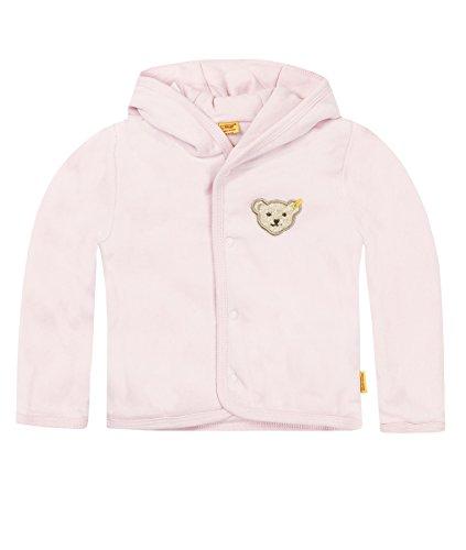 Steiff Unisex - Baby Jacke, gestreift Classics Nicky Jacke 0002867, Gr. 68, Rosa (barely pink)