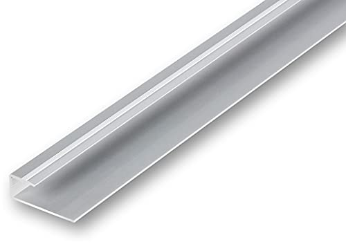 Einfassprofil, Einschubprofil, Randprofil für Hartböden wie Vinylboden, Laminat oder Parkett verschiedene Modelle zwischen 7-16 mm (1000 mm / 14-16 mm Einschub, silber)