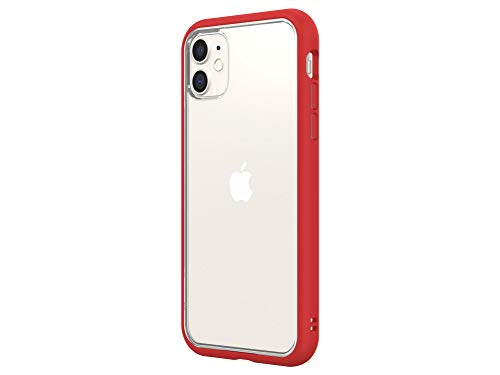 RhinoShield Modulares Case kompatibel mit [iPhone 11] | Mod NX - Schockabsorbierende Anpassbare Dünne Schutzhülle 3.5 Meter Fallschutz - Rot