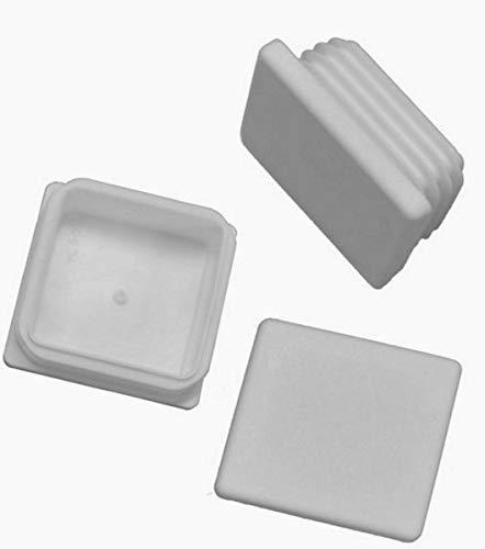 10 x Lamellenstopfen Vierkantrohrstopfen 40 x 40 mm (Außen) Stopfen WEISS
