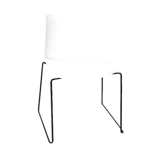 arper Catifa 46 0278 Stuhl einfarbig Kufe schwarz, weiß Außenschale glänzend innen matt Gestell schwarz matt V39