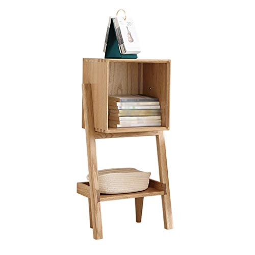 DHTOMC Estante de librería Simple Solid Wood Bookshelf, Estudio Dormitorio 3 Capas estantería Hecha a Mano para Ahorrar Espacio Pantalla de estantería (Tamaño: s) Xping (Size : Small)