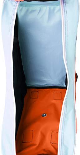 Rio Roller Roller Script Skate Bag, Unisex Adults' Canvas and Beach Tote Multicolour (Teal/Coral), 24x15x45 cm (W x H L)