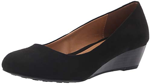 CL by Chinese Laundry Women's Marcie Wedge Pump, Black Super Suede, 8 M US