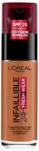 L'Oréal Paris Infaillible 24H Fresh Wear Make-up 340 Copper, hohe Deckkraft, langanhaltend, wasserfest, atmungsaktiv, 30ml