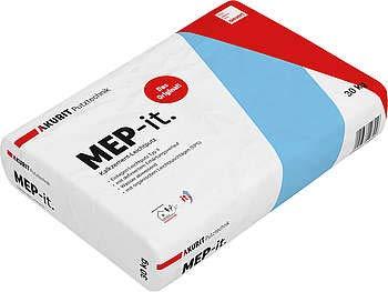 AKURIT MEP-it. Kalkzement-Leichtputz 30 kg/Sack, Korn 0-1,2 mm, Einlagen Leichtputz Typ II
