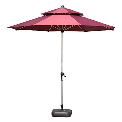 Bktmen Muebles de jardín Sombra de Sombra Covring, 270 cm Polo de Aluminio Sol Parasol Easy Crow Open, Paraguas al Aire Libre para Piscina Playa Patio Garden