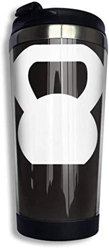 huatongxin Kettlebell WOD White Acero inoxidable Vacuum Aislado Tumbler 13.5 Oz Taza de café Taza d