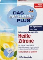 DAS gesunde PLUS Heißgetränk Heiße Zitrone, Portionssticks, 1 x 20 St Nahrungsergänzungsmittel