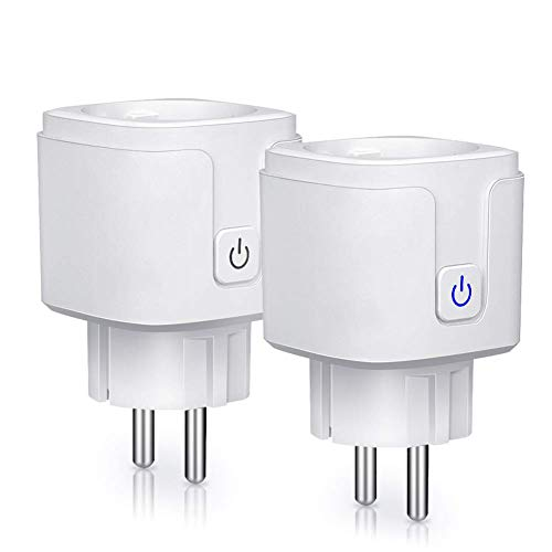 2*  WLAN Hausautomation 2x Wifi Smart Socket Android Oder IOS Für Amazon Alexa